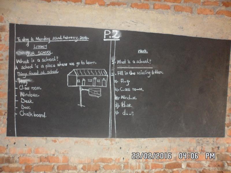 I første skoletime for Primary 2 fikk barna en innføring i sin nye skole.